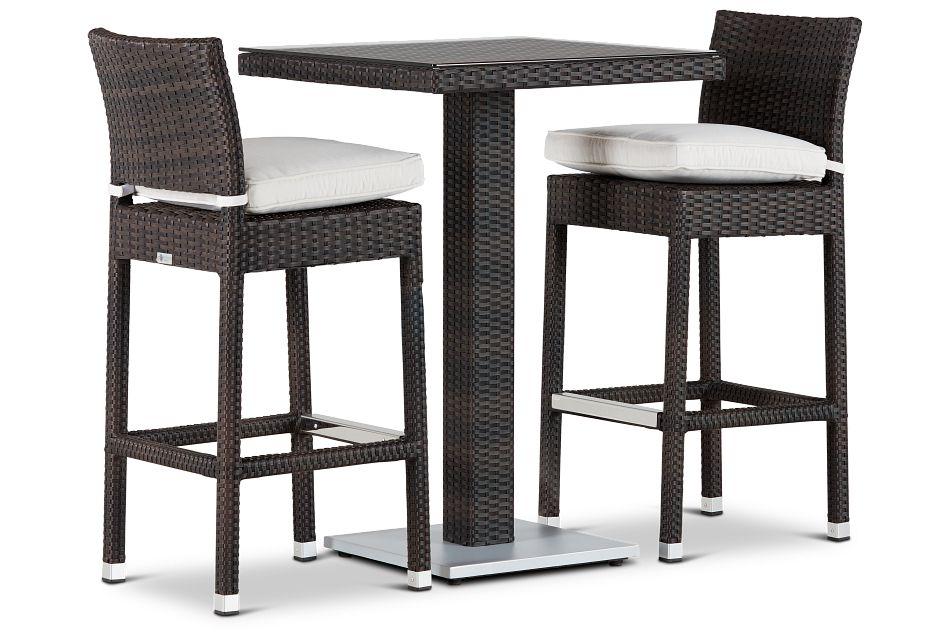 """Zen White 27"""" Pub Table & 2 Barstools"""