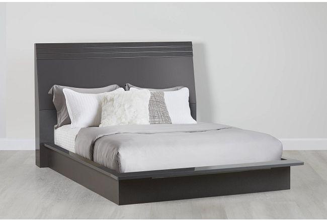 Midtown Gray Wood Platform Bed