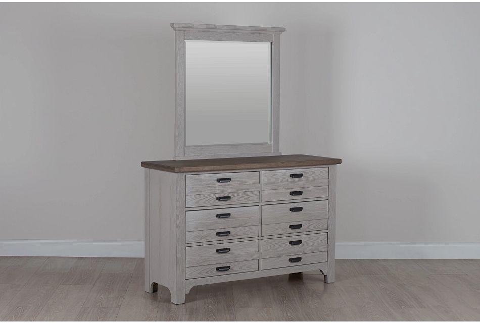 Bungalow Two-tone Dresser & Mirror