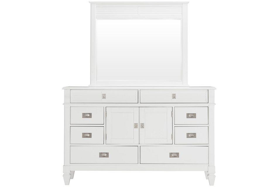 Marina White Dresser & Mirror