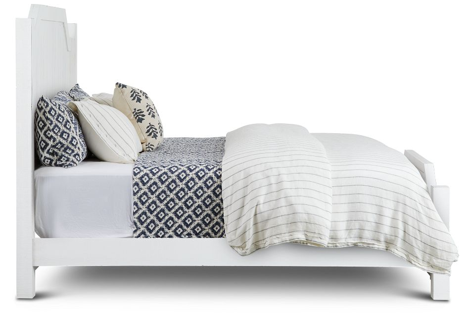Elmhurst White Panel Bed