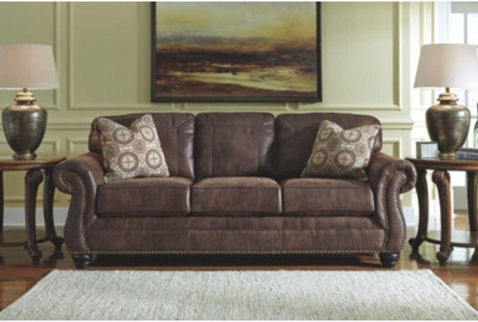 Breville Dark Brown Micro Sofa