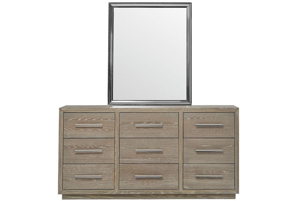 Zephyr Light Tone Dresser & Mirror