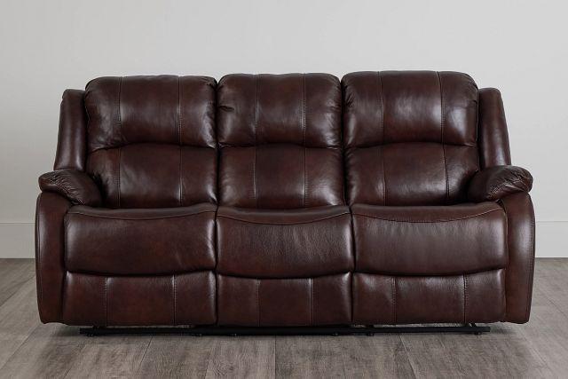 Dalton Medium Brown Lthr/vinyl Reclining Sofa (0)