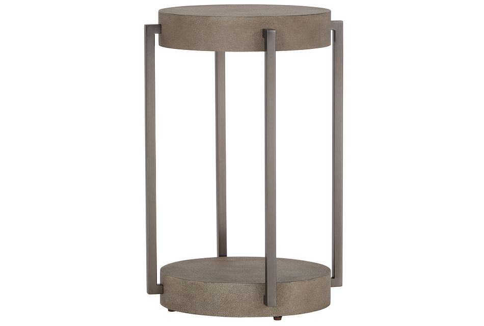 Mosaic Light Tone Wood Round End Table