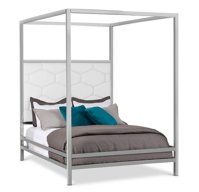 Cortina White Canopy Bed (0)