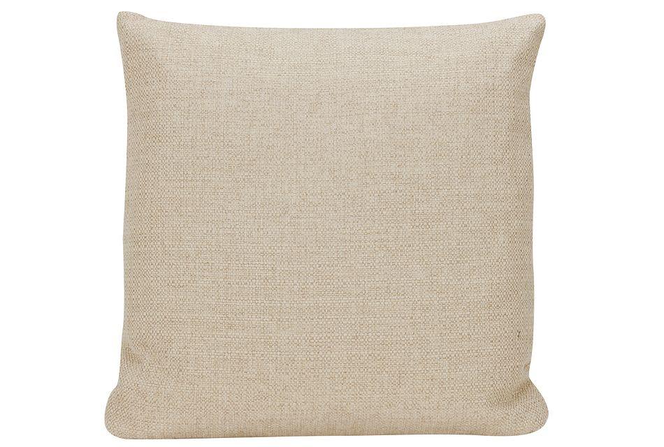 Veronica Khaki Fabric Square Accent Pillow