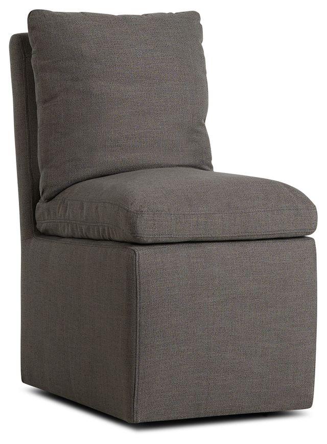 Auden Dark Gray Castored Upholstered Side Chair (1)