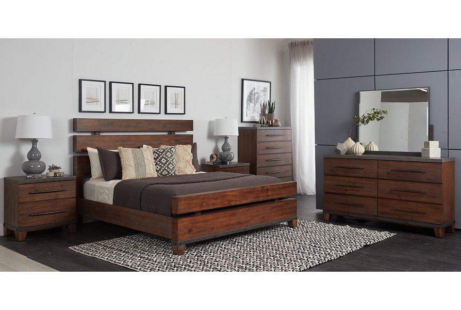 Forge Dark Tone Panel Bedroom