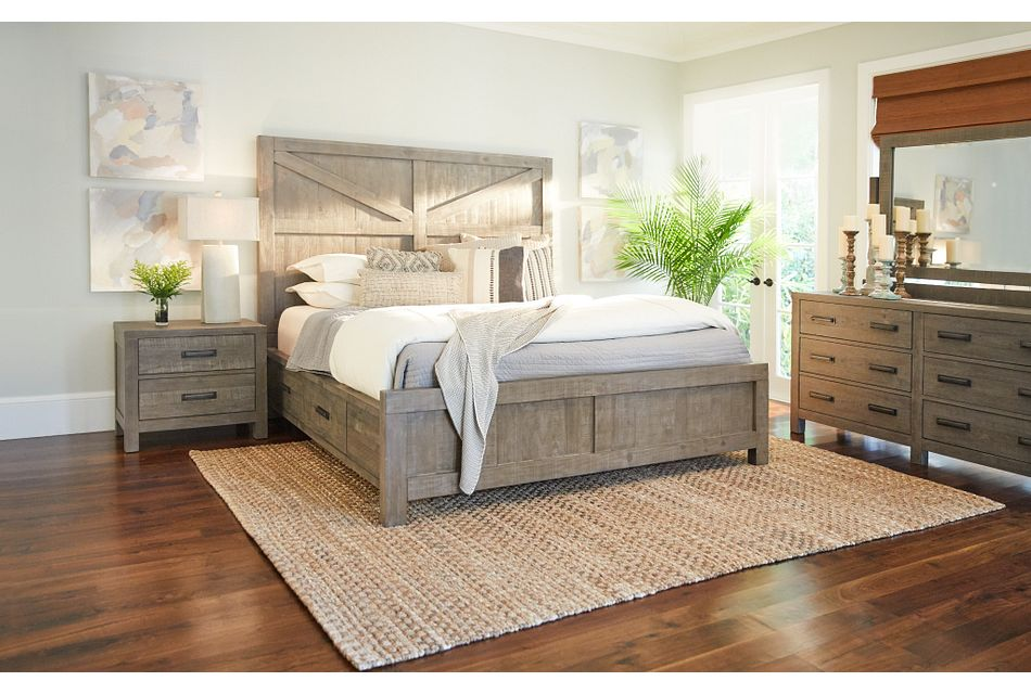 Taryn Gray Left Panel Storage Bedroom