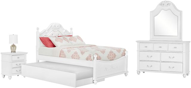 Alana White Uph Poster Trundle Bedroom (0)