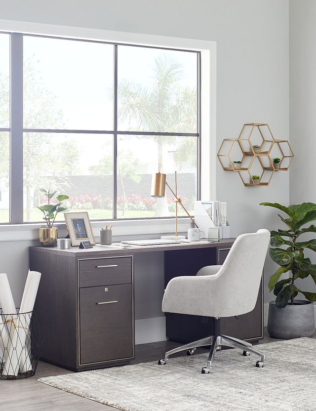 Highline Dark Tone Writing Desk (2)