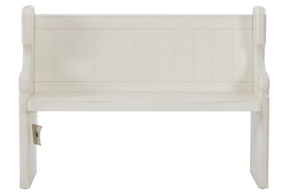 Pew White  Bench