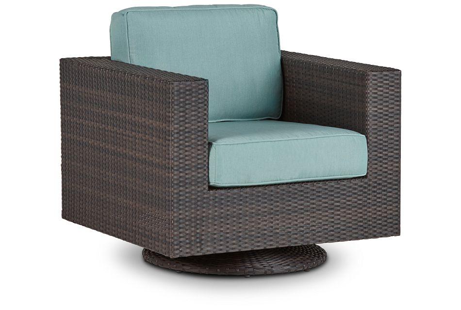 Fina Teal Swivel Chair