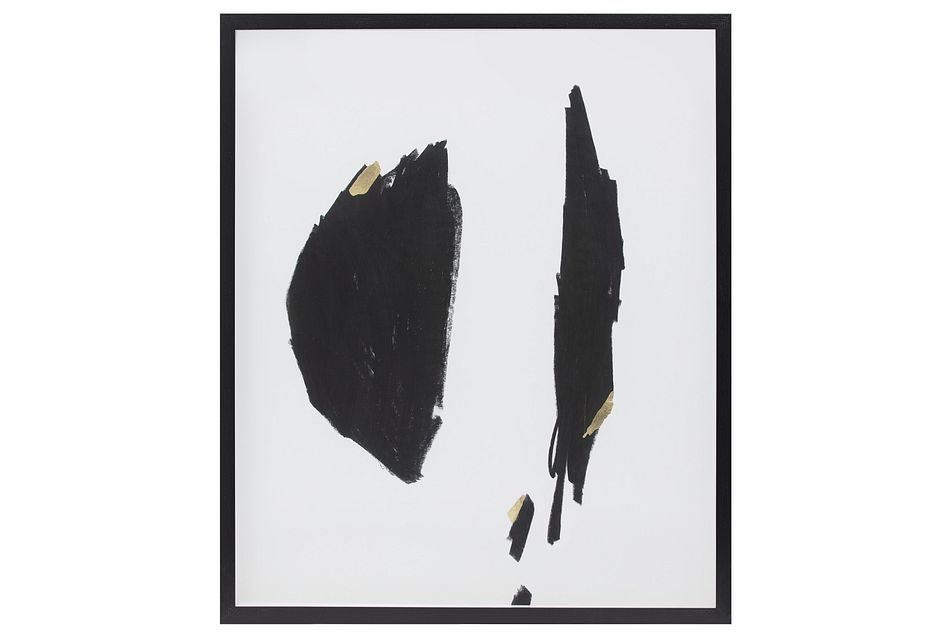 Brush Black Framed Wall Art