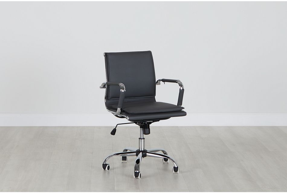 Denver Gray Uph Desk Chair, %%bed_Size%% (0)