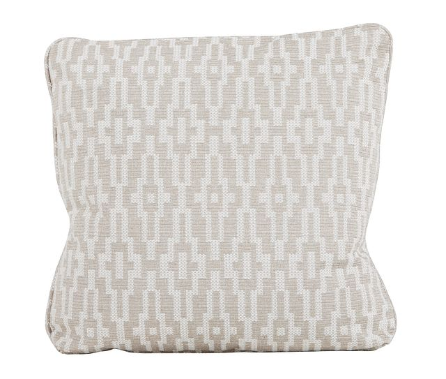 """Adriana Dark Taupe 22"""" Down Accent Pillow (0)"""