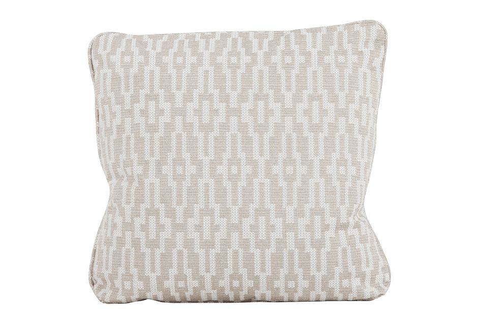 "Adriana Dark Taupe 22"" Down Accent Pillow"