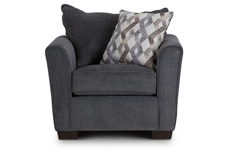 Myra Dark Gray Fabric Chair,  (3)