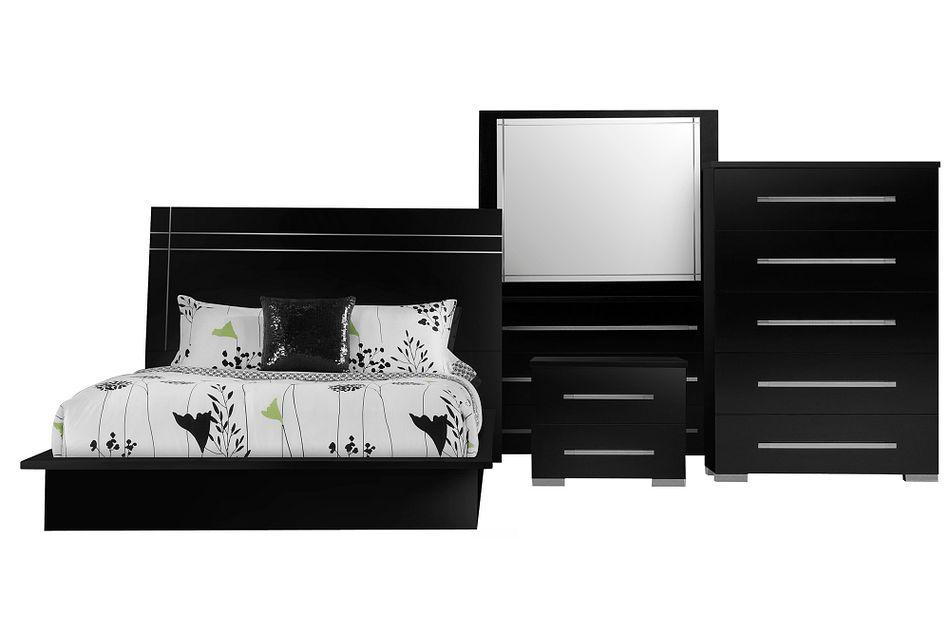 Dimora BLACK WOOD Platform Bedroom Package