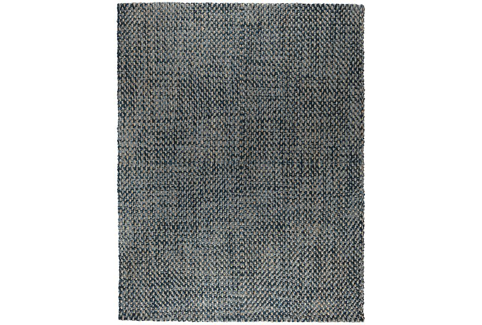 Ladera Dark Blue 8x10 Area Rug