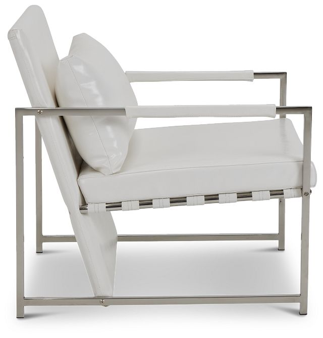 Russell White Uph Accent Chair (2)