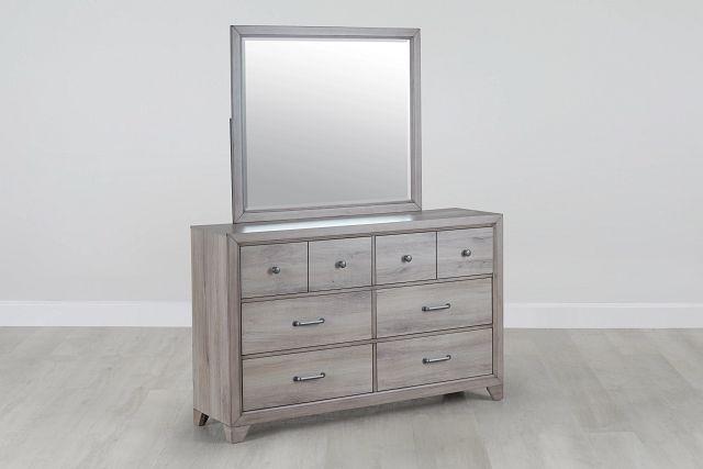 Rivercreek Gray Wood Dresser & Mirror (0)