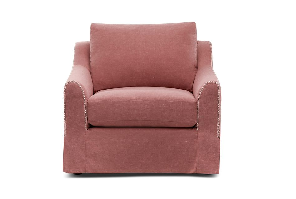Madelyn Red Fabric Chair