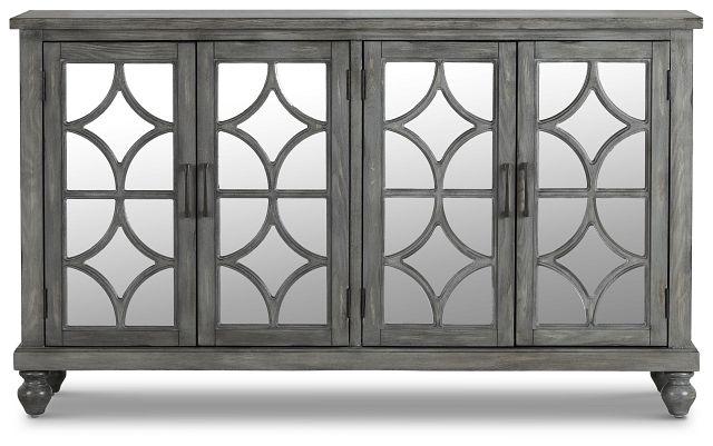 Ash Gray Four-door Cabinet (1)