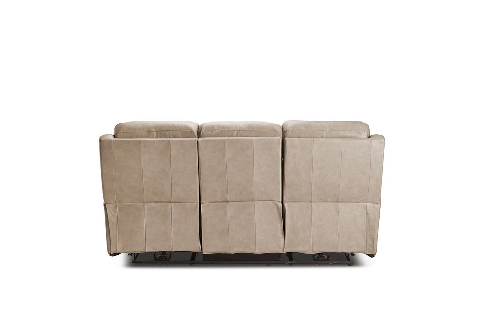 Rawlings Taupe Leather Power Reclining Sofa
