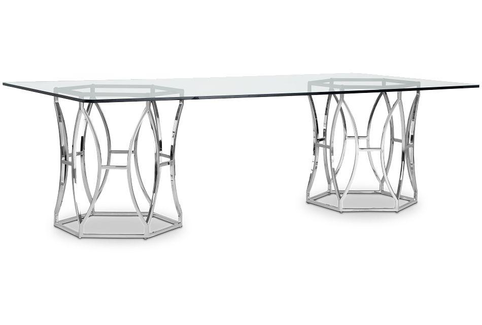 Argent Glass Rectangular Table
