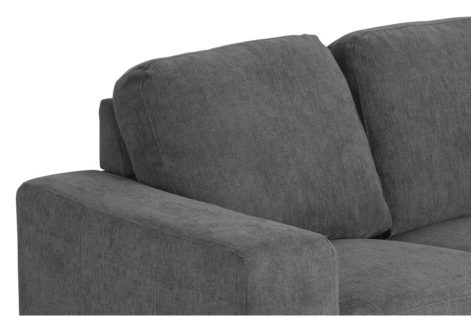 Estelle Dark Gray Fabric Loveseat