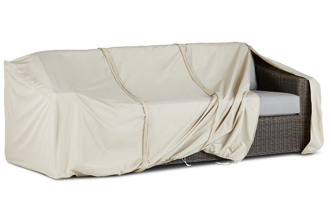 Canyon Khaki Outdoor Sofa Cover