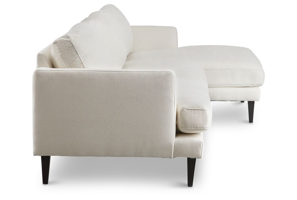 Fremont Light Beige Fabric Right Chaise Sectional