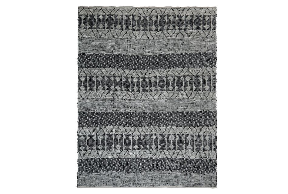 Zambezi Dark Gray 8x10 Area Rug