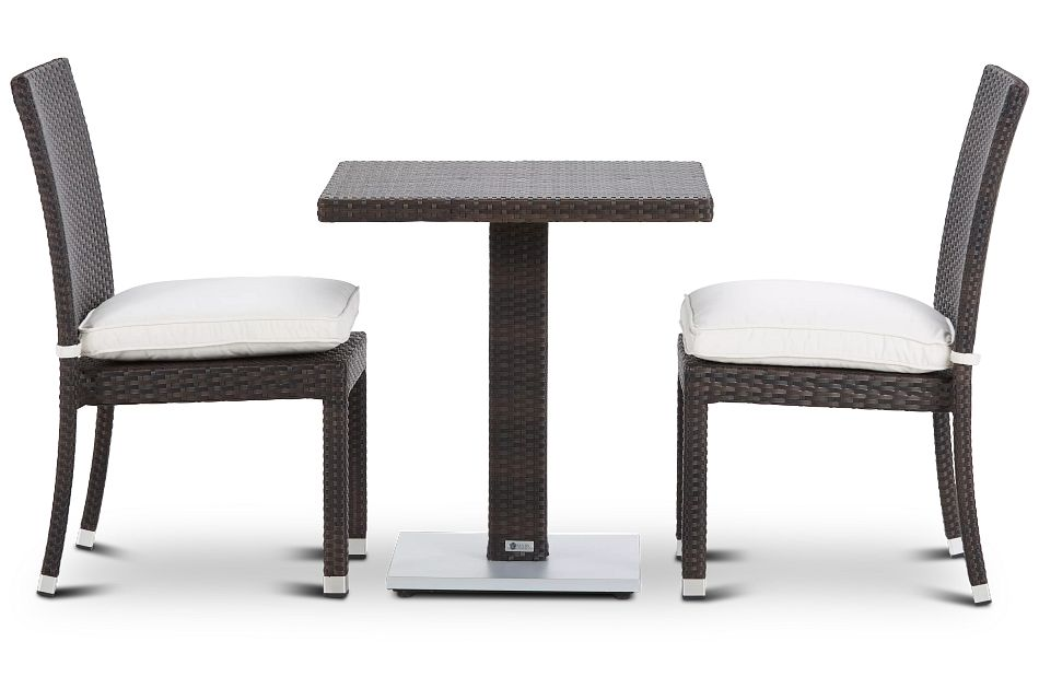 """Zen White 27"""" Square Table & 2 Chairs"""