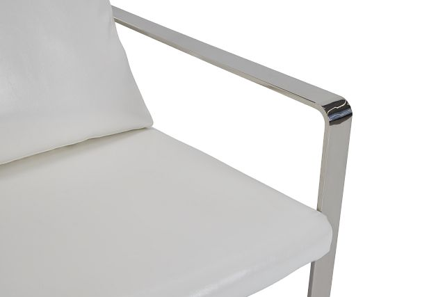 Roslin White Uph Accent Chair