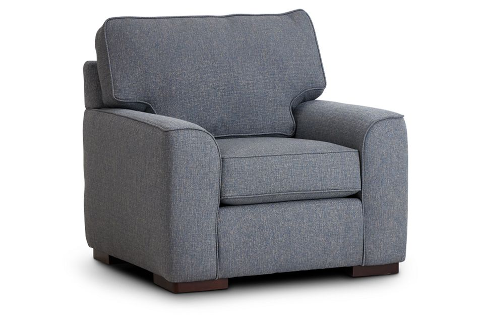 Austin Blue Fabric Chair,  (1)