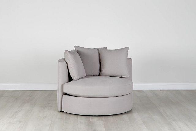 Merrick Gray Fabric Swivel Chair (0)