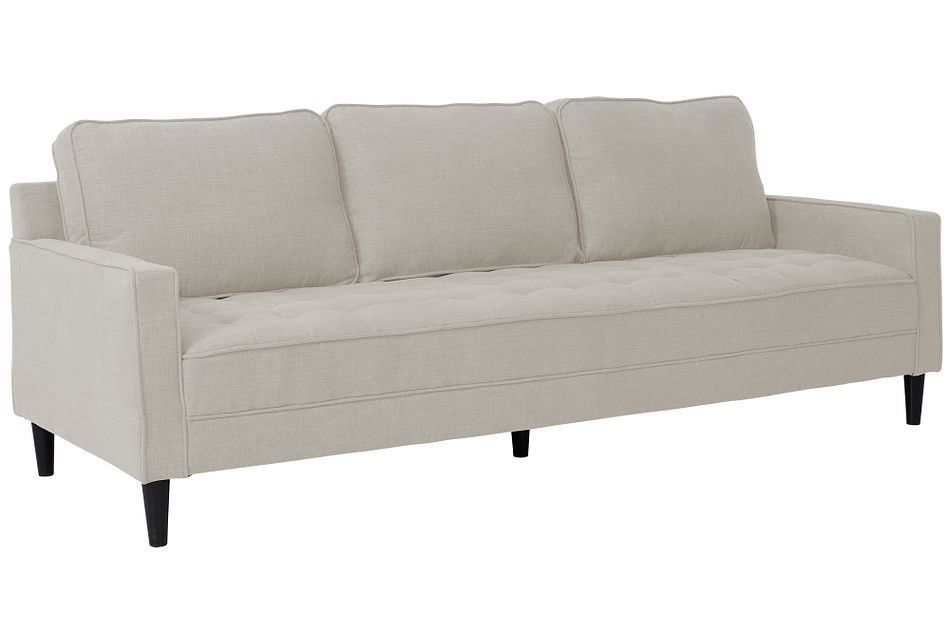 """Eli 90"""" Taupe Micro Sofa"""