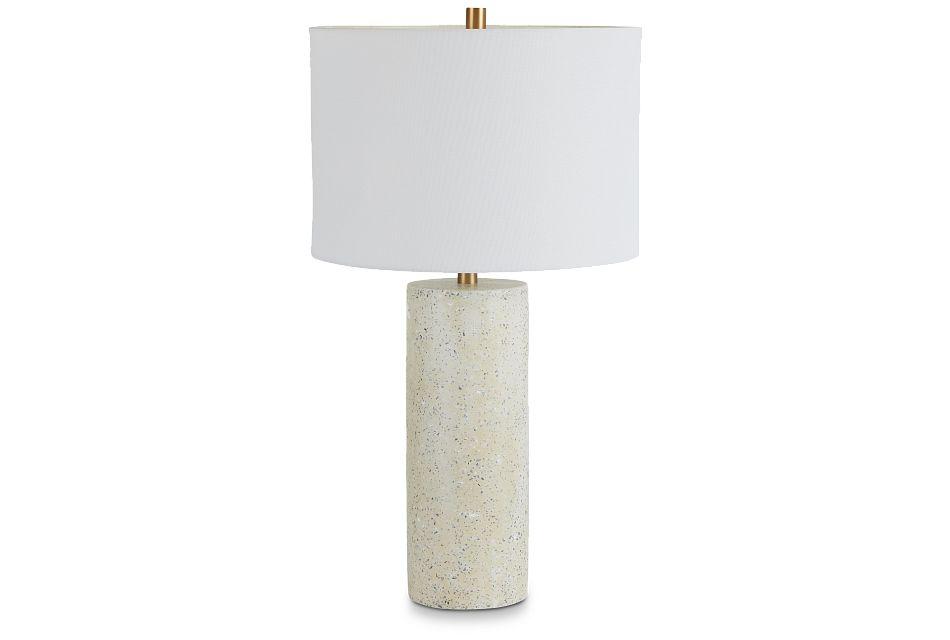 Annie White Terrazzo Table Lamp,  (1)