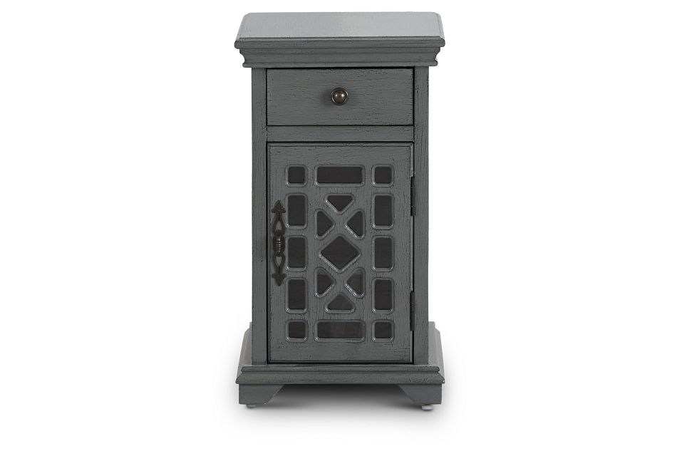 Alexis Dark Gray Small Cabinet,  (1)
