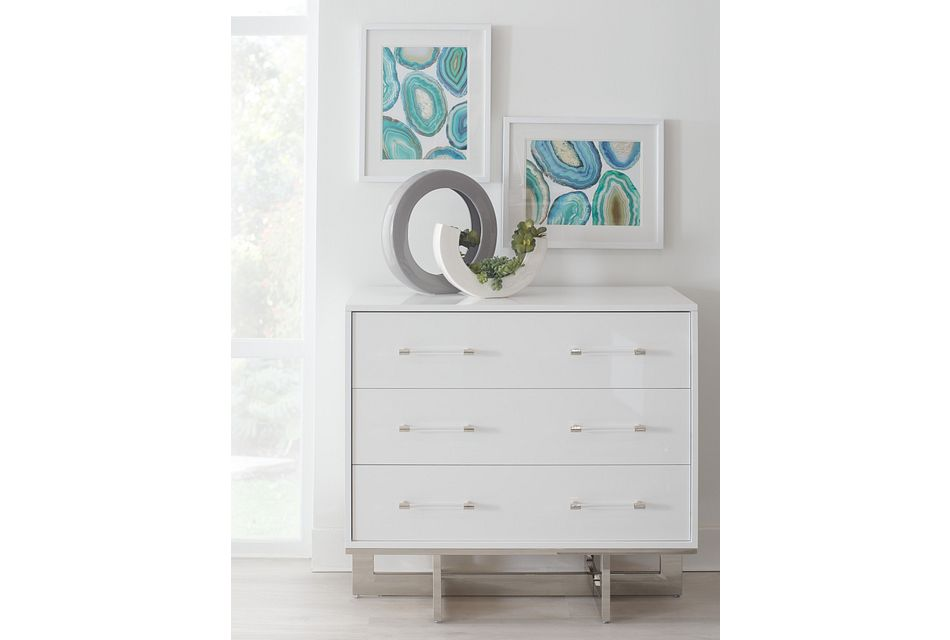 Cortina White Small Drawer Chest