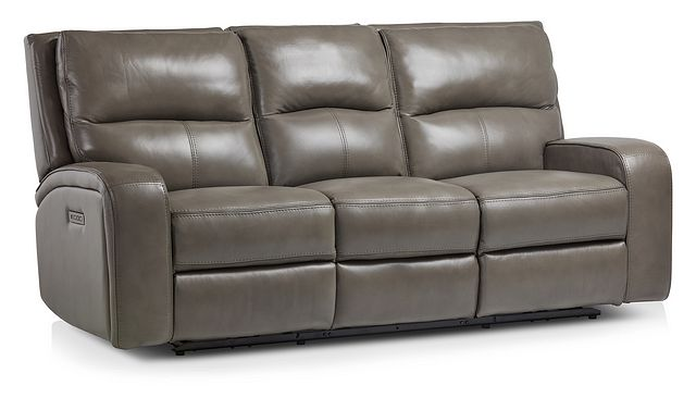 Declan Dark Gray Lthr/vinyl Power Reclining Sofa (1)