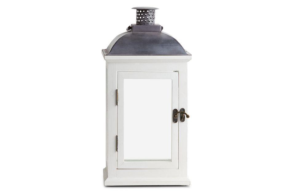 Greensville White Medium Lantern