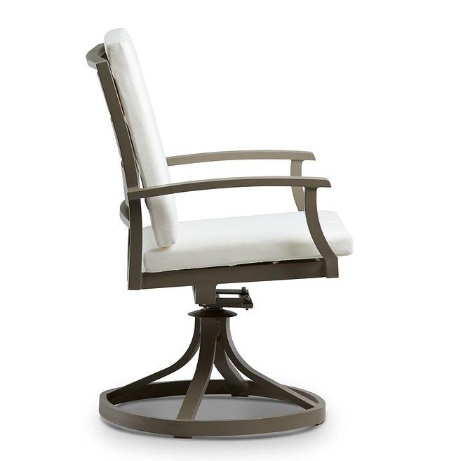 Raleigh White Swivel Arm Chair (1)