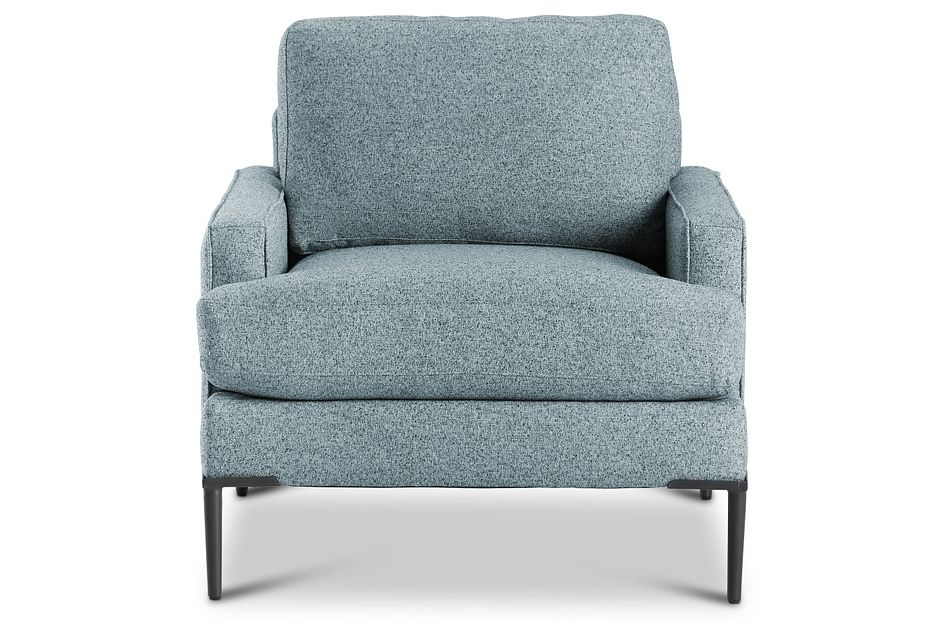 Morgan Teal Fabric Chair With Metal Legs