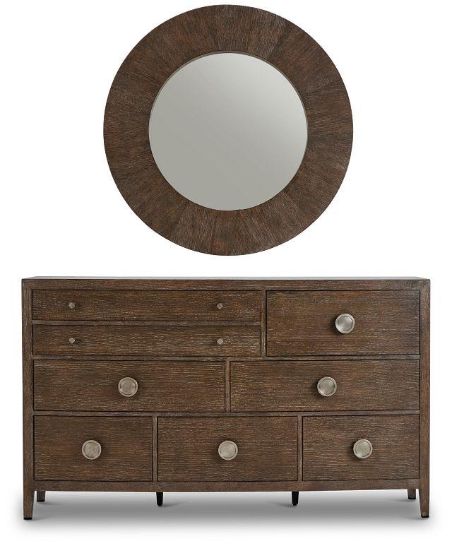 Linea Dark Tone Dresser & Mirror (2)