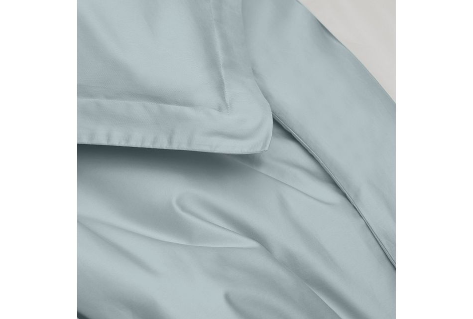 Cotton Sateen Light Blue 300 Thread Duvet Set