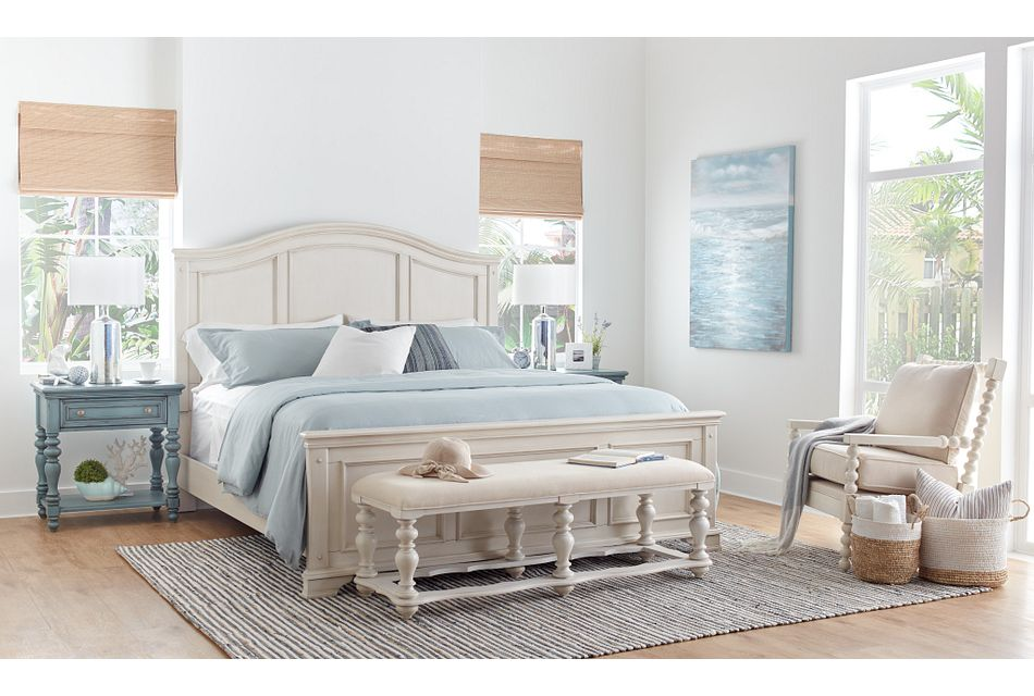 Savannah Ivory Panel Bed, King (2)